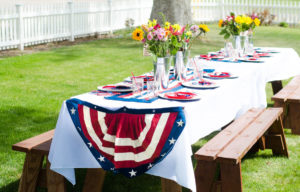 4th Of July Socially Distanced Tables