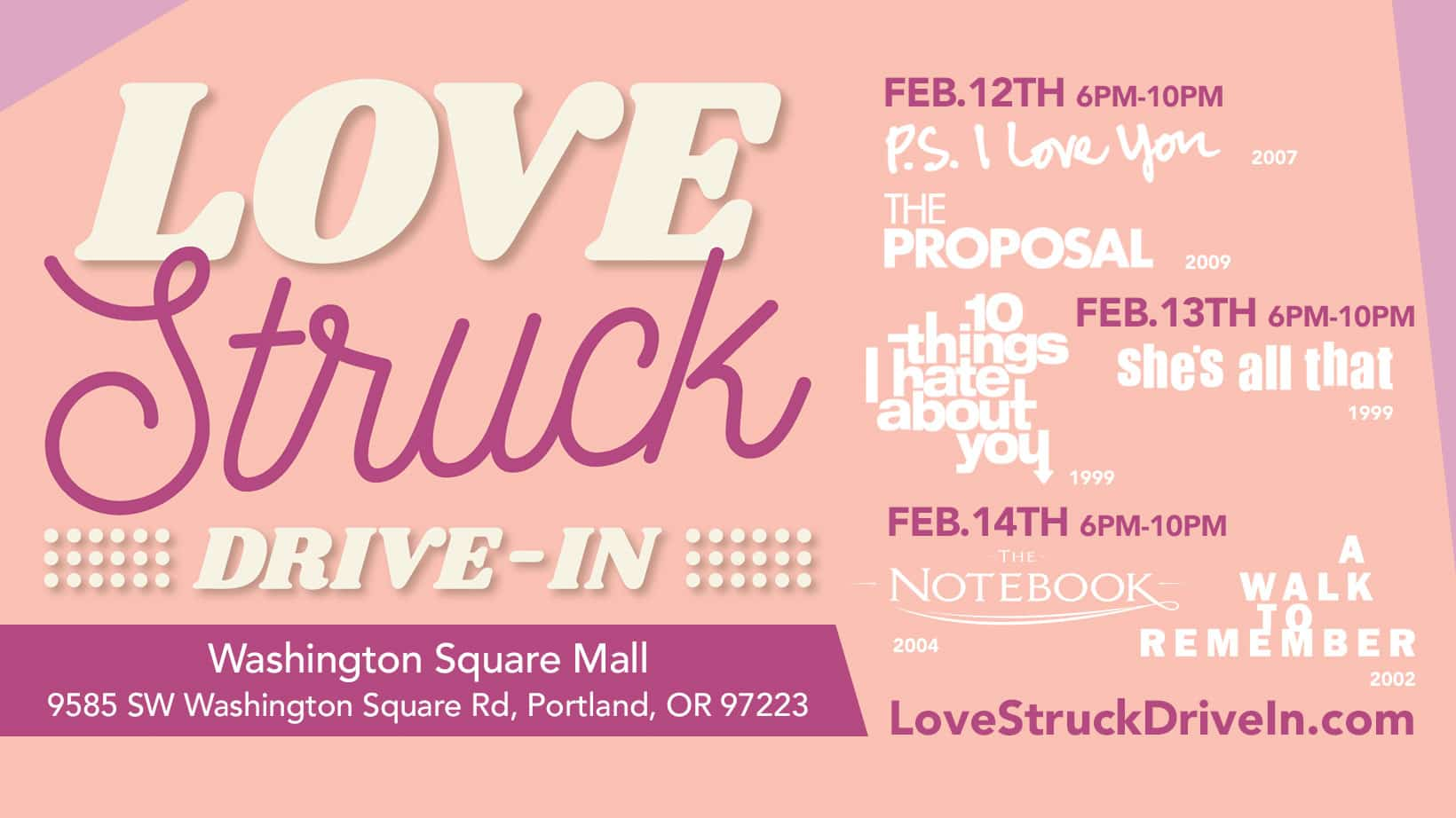 Drive-In Valentine's Dinner & Movie Experience Comes To Washington Square This February