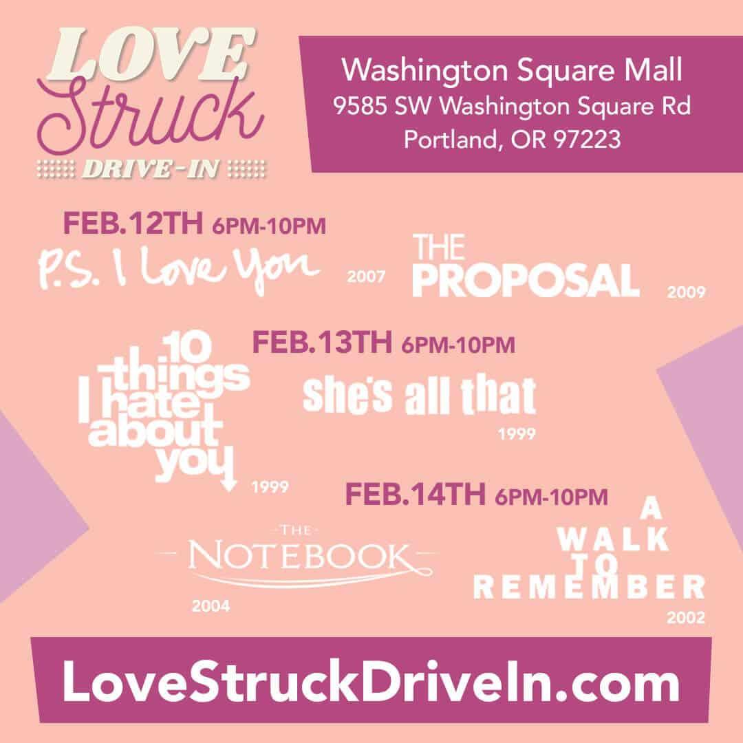Your Favorite Romantic Comedies – Love Struck Drive-In
